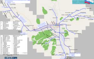 Маршруты и расписание автобусов Горно-Алтайска